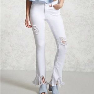 Forever 21 Distressed Flared Jeans - Size 28